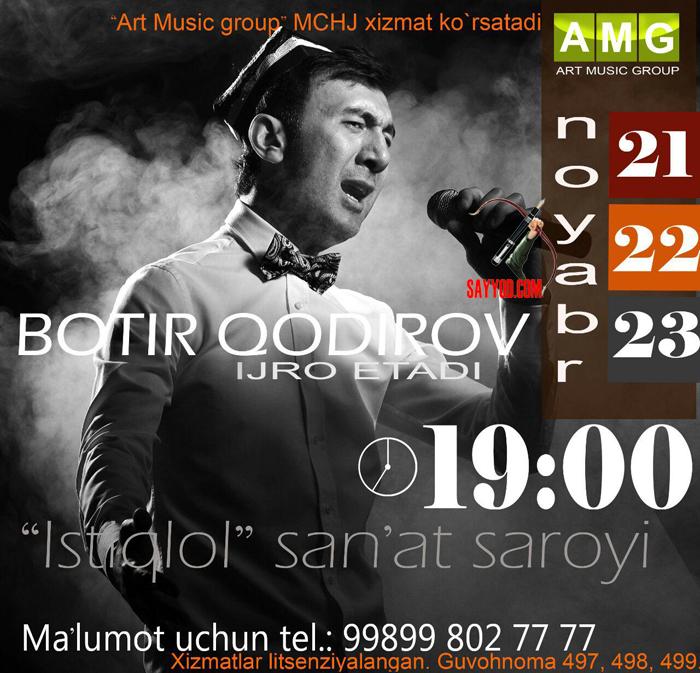 Botir Qodirov - 2015 yilgi konsert dasturi